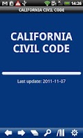Screenshot of California  Civil Code