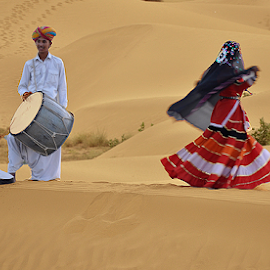 Dancing Desert 3 by Shyamal Roy - People Musicians & Entertainers