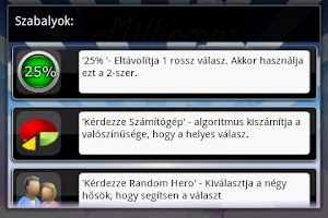 Screenshot of Milliomos