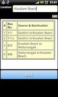 Screenshot of Trivandrum Bus Info
