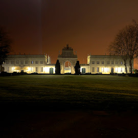 Seteais by night by Julio Cardoso - Buildings & Architecture Statues & Monuments ( sintra, seteais, portugal, palace )