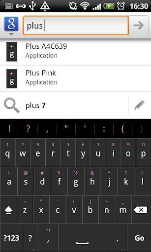 Plus Pink - HD Keyboard Theme