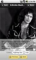 Screenshot of 71+1 best guitarists of rock