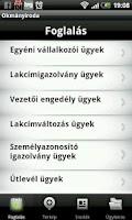 Screenshot of Okmányiroda