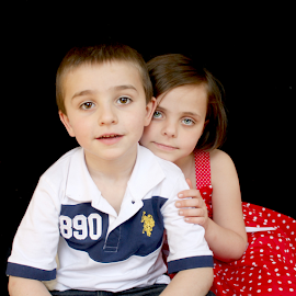 brother and sister by Mickey Carson-preston - Babies & Children Child Portraits