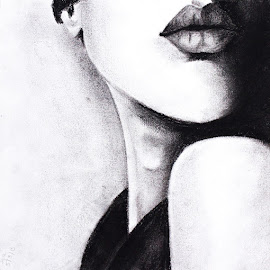 Lips by Iga Koczorowska - Drawing All Drawing