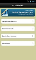 Screenshot of Physical Therapy Exam Track