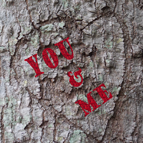Us by Jamie Boyce - Typography Words ( valentine's day, heart, words, tree, contest, post card, typography, valentine, love, postcard,  )