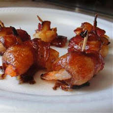Barbecued Pancetta Wrapped Prawns