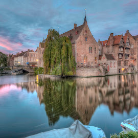 by Tim Verbeeck - City,  Street & Park  Street Scenes ( sky, hdr, colors, sunset, bruges, belgium, historical, landscape,  )