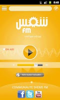 Screenshot of Shems FM Tunisie