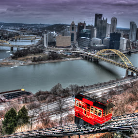 The Incline - Pittsburgh by Elk Baiter - Buildings & Architecture Public & Historical ( skyline, pittsburgh, duquesne, bridge, incline, city,  )