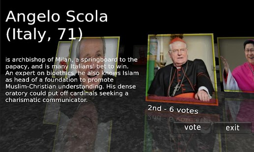 Vote Your Pope - screenshot