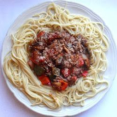The best chunky spaghetti Bolognese