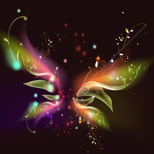 三維可愛的蝴蝶 個人化 App LOGO-硬是要APP