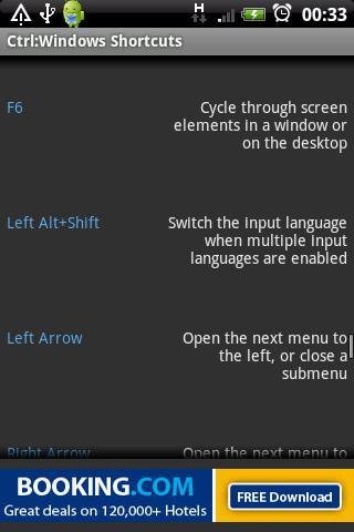Ctrl: Windows Shortcut Keys