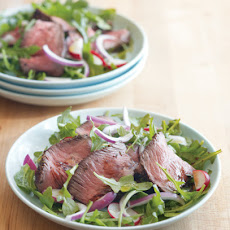 Mustard-Peppercorn Steak and Arugula Salad