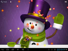 Screenshot of New Year Snowman LiveWallpaper