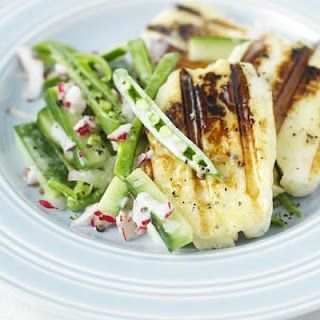 Halloumi With Triple Crunch Salad