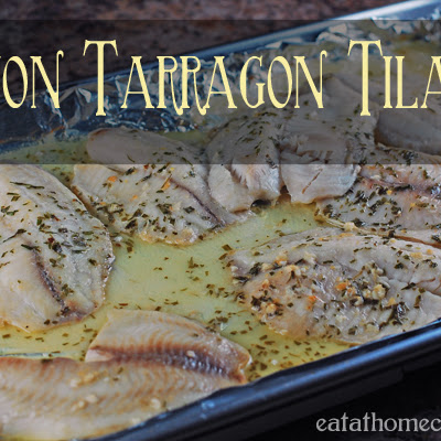 Easy Dijon Tarragon Tilapia – 5 minute prep in morning, 20 minute bake at dinner