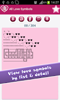 Screenshot of Love Symbol Text Art