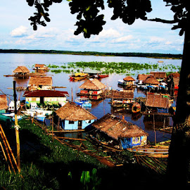 Floating homes on the Amazon River by Tyrell Heaton - Buildings & Architecture Homes ( iquitos, peru, amazon river, floating homes )