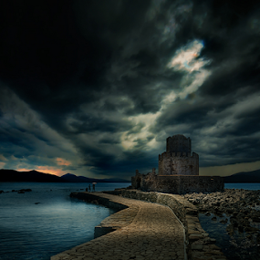 ---------- by Dimitrios Lamprou - Buildings & Architecture Statues & Monuments ( water, methoni, ionion, d800, sea, castle, sunrise )