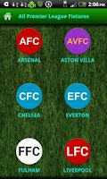 Screenshot of All Premier League Fixtures