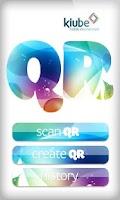 Screenshot of QR code reader and generator