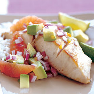 Mahi-Mahi with Blood Orange, Avocado, and Red Onion Salsa