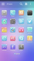 Screenshot of Gemstone GO Launcher Theme