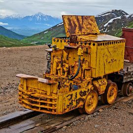 Alaska Mine Train by Jim Czech - Transportation Trains ( gold mine, mountains, hatcher pass, alaska, mine train, train, mine )