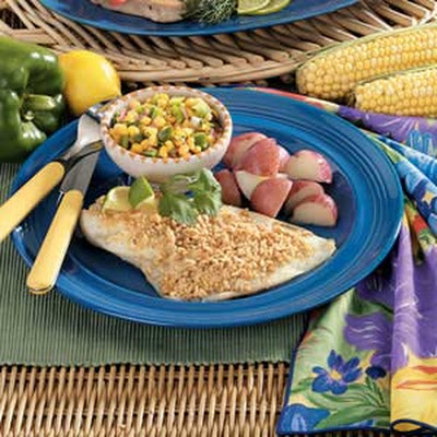 Peanut-Crusted Orange Roughy