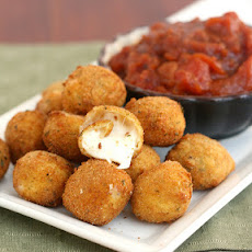 Fried Bocconcini with Spicy Tomato and Garlic Chutney