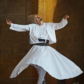 Whirling Dervish - Nicosia, Northern Cyprus by Cheryl Quine - People Musicians & Entertainers
