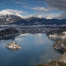 Island of Bled, Slovenia by Klemen R. - City,  Street & Park  Vistas