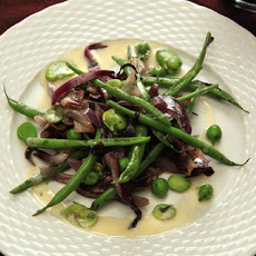 Warm Spring Vegetable Salad with Favas, Green Beans, and Radicchio Recipe