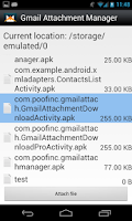 Screenshot of Gmail Attachment Manager