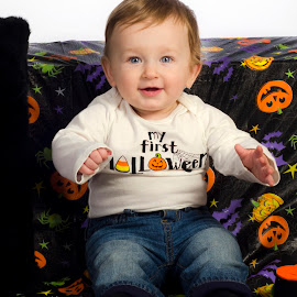 First Halloween by Kelly Elle - Babies & Children Babies ( child, adorable, baby, cute, portrait, halloween,  )
