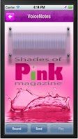 Screenshot of Shades of Pink Magazine
