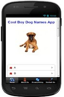 Screenshot of Cool Boy Dog Names App