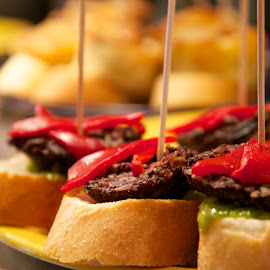 Tapas by Miren Etcheverry - Food & Drink Plated Food ( pimiento, tapas, pintxos, peppers, spanish, food, meat, chiles, france, appetizer, basque,  )