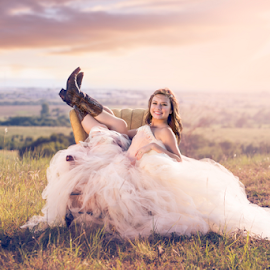 Sunset Texas Senior Shoot - Shawnessy Ransom Photography by Shawnessy Ransom - People Portraits of Women ( natural light, senior portrait, seniors, tutu, sunset, fine art photography, texan, golden hour )