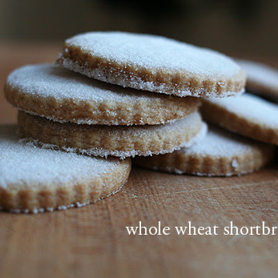 Whole Wheat Shortbread Cookies (adapted from Zoe Nathan)