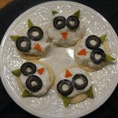 Little crabmeat owls for Halloween