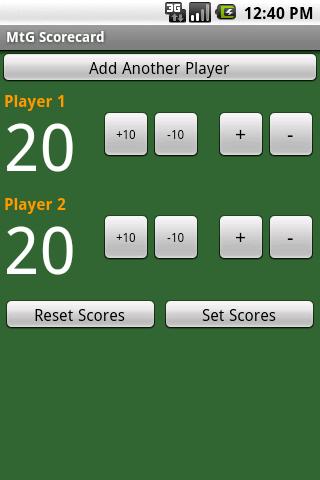 MTG Scorecard
