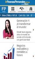 Screenshot of Finanzas Personales