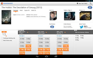 Screenshot of Fandango Movies for Tablets