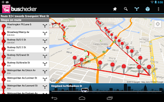 Screenshot of Transantiago Bus Checker