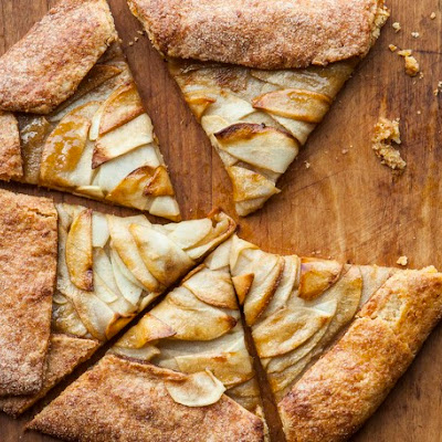 Apple and Caramel Aged Gouda Crostata